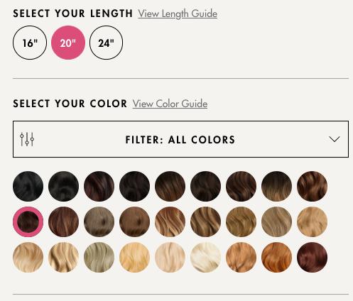 warianty kolorystyczne produktu w e-commerce