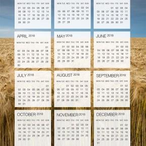 2018 Dates