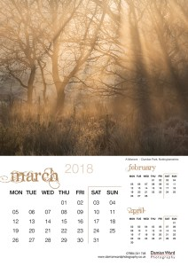 Damian Ward Photography Calendar 2018 March