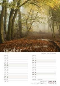 Damian Ward Photography Calendar 2018 October