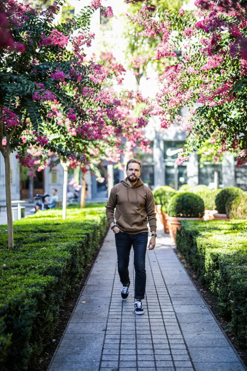 hoodie beige jean edwin DamienLB automne mode