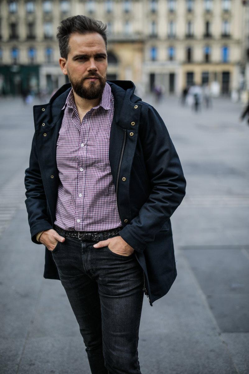 chemise à carreaux DamienLB parka peter octobre editions