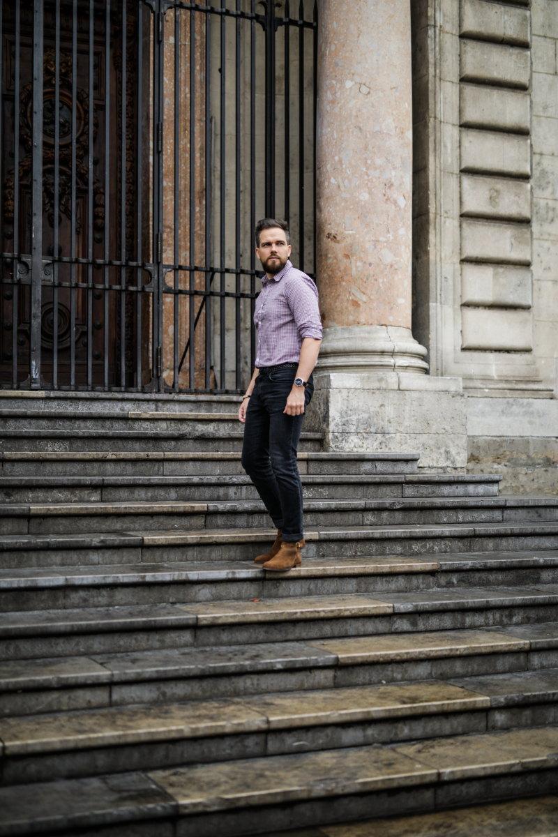 chemise à carreaux DamienLB jean edwin chelsea boots