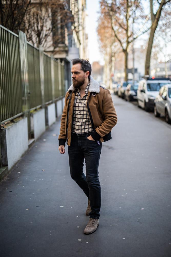 chemise coton carreaux damien lb
