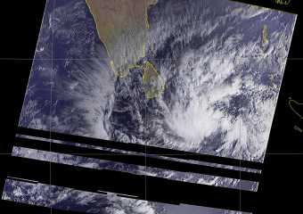 TWISTED CLOUD PATTERN IS OBSERVED SOUTH WEST OF SRI LANKA – 01.21.2019