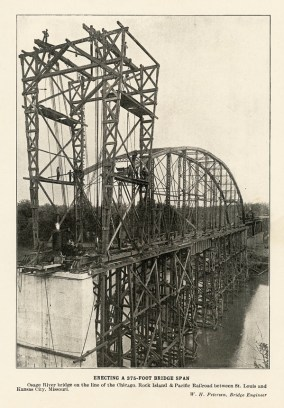 Henley RR bridge construction