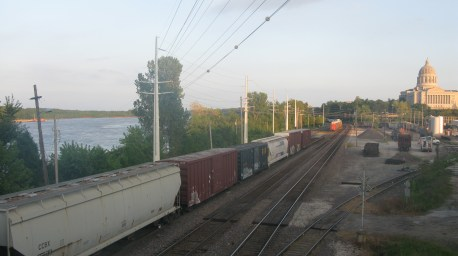 Railroad yards-Missouri River-Jeff City