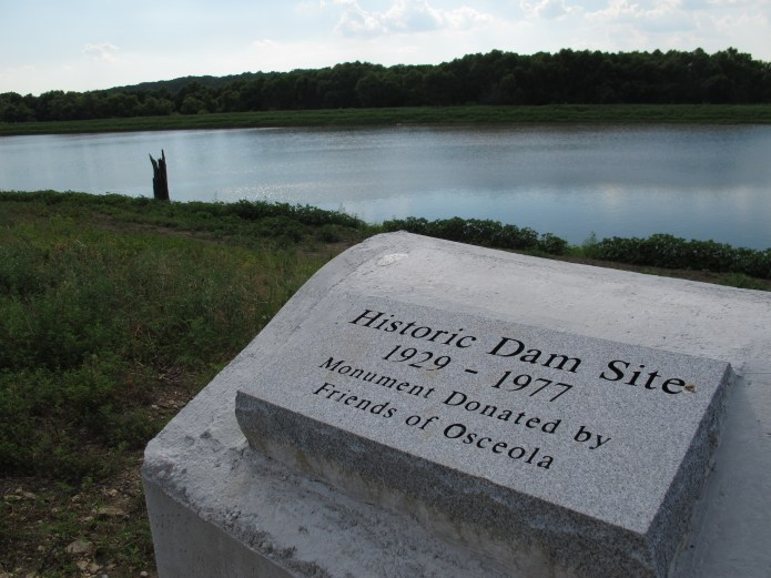 Monument to Osceola Dam on Osage River