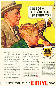An Ad for Ethyl-treated gasoline