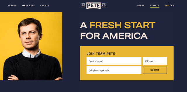 Home page of peteforamerica.com