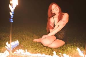 Flaming photo frame.