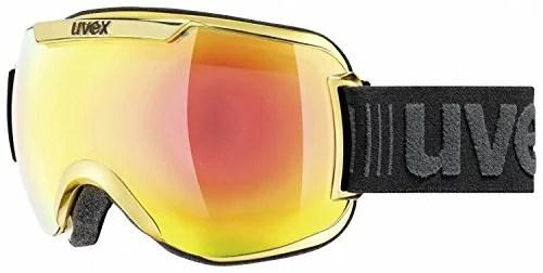 Uvex Erwachsene Downhill 2000 FM Chrome Skibrille, Yellow Chrome, One Size.