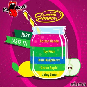 Smooth Summer - Juicy Lime, Green Apple, Blue Raspberry, Icy Pear, Cotton Candy (JGBIC) - 30ml