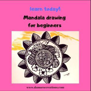 Mandala drawing for beginners