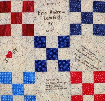 United in Memory: Memorial Quilt Square for Eric Lehrfeld