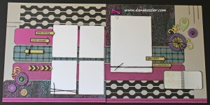 Two Page Girl Scrapbooking Layout using CTMH Laughing Lola WOTG and Cricut Artbooking #ctmh #scrapbooking