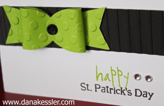 Happy St. Patricks Day Card CTMH Embossing Folders Embossed #cricut #ctmh #scraptabulousdesigns #cuttlebug