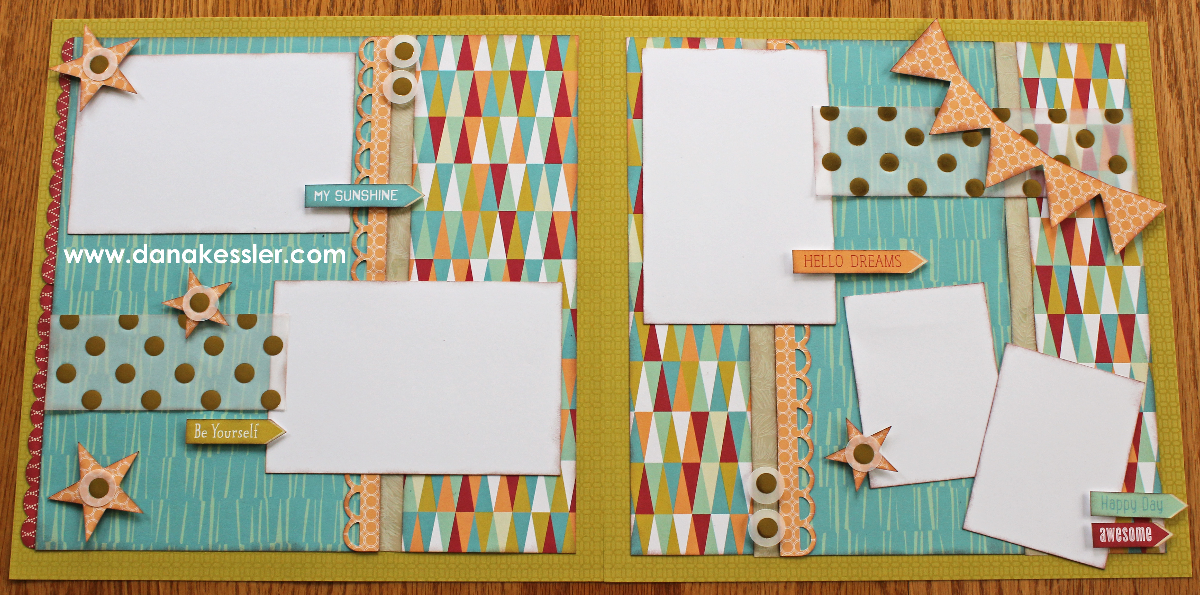 Free To Be Me Scrapbook Layouts – Goin' Old School! :)