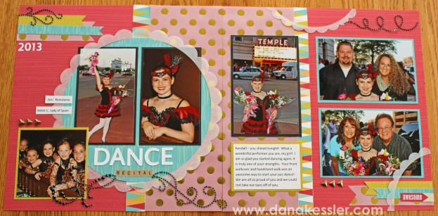 Two Page Dance Layout Free To Be Me CTMH Cricut vellum #scraptabulousdesigns #ctmh #cricut #scrapbooking