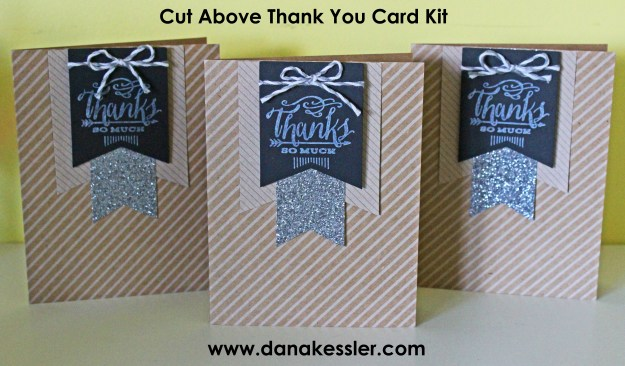 Cut Above Thank You Card Kit Gift Kids Craft #ctmh #scraptabulous