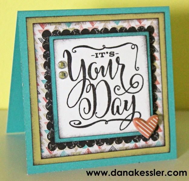 It's Your Day Congratulations Card #ctmh #cricut #scraptabulousdesigns