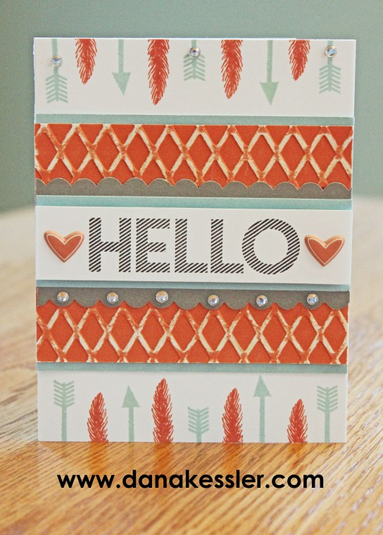 January SOTM This Moment Hello Card Arrow #ctmh #scraptabulousdesigns