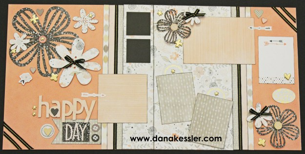 Two Page Scrapbook Layout Charlotte Wedding Flowers Arrows Today Celebrate Love #ctmh #ctmhcharlotte #scraptabulousdesigns #cricutexplore #scrapbooking