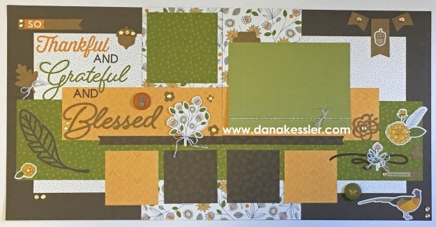Two Page Fall Falling for You Pumpkin Thanksgiving Family Friends So Blessed Scrapbook Layout #ctmhfallingforyou #scraptabulousdesigns #scrapbooking #cricutexplore