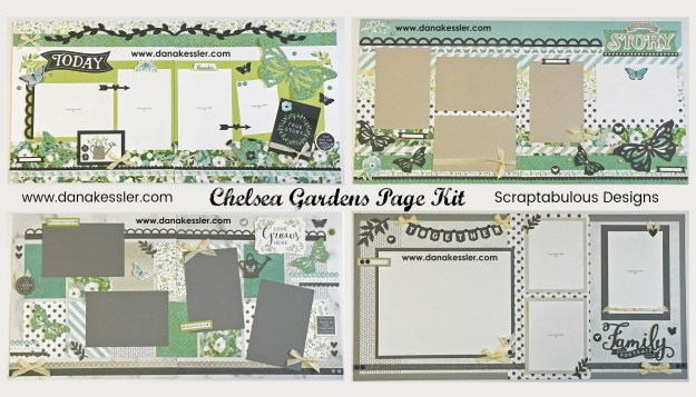 Two Page Spring Outdoors Butterfly Family Love Story Scrapbook Layout #ctmhchelseagardens #pagekits #cricutexplore #scrapbooking #scraptabulousdesigns