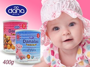 Baby face and Danalac Infant Formula
