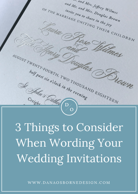 3 Things To Consider When Wording Your Wedding Invitation