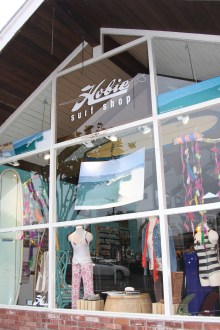 The new Hobie Surf Boutique has opened on Del Mar in San Clemente in the space formerly known as the Hobie Green Room. The female-centered shop will host a celebration on Friday for Hobie team rider Rachael Tilly who recently won a silver medal at the ISA World Longboard Championship. Photo by Andrea Swayne