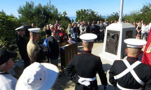 A crowd gathers at Strand Vista Park for the Veterans Day commemoration in 2012. Photo courtesy of the Veterans of of Foreign Wars Post 9934.