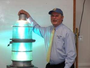 Dana Point Auto owner Richard Deffenbaugh donated the Richfield Tower beacon to the Dana Point Historical Society. Courtesy photo