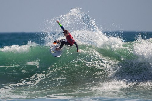 Griffin Colapinto of San Clemente won the Boys U16 and Boys U18 at the final Surfing America Prime event of the season, May 31 to June 1, in Oceanside. Colapinto was also awarded the season championship titles in both divisions. Photo: Jack McDaniel