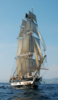 The Ocean Institute's brig Pilgrim hits the open waters. Courtesy photo