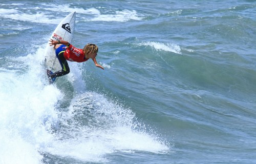 Kade Matson of San Clemente kicked off the new NSSA Southwest Explorer season doubleheader on Aug. 23-24 with three wins, two in Menehune and one in Boys. Photo: Kurt Steinmetz