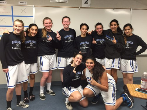 The Dana Hills girls basketball team poses for a photo after winning the Ocean View Hawk Holiday Classic on Dec. 13. Courtesy photo
