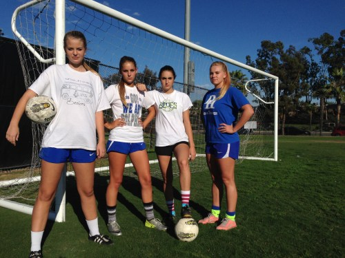 The Dana Hills girls soccer team is in third place in the South Coast League. Photo: Steve Breazeale