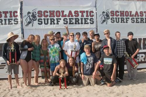 San Juan Hills High School surf team. Photo: Sheri Crummer