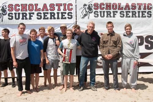 Dana Hills High School surf team. Photo: Sheri Crummer