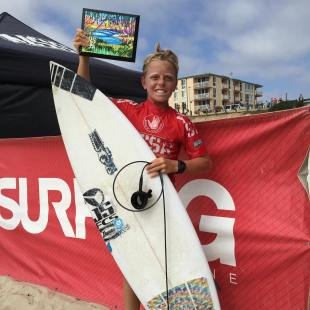 Max Beach (San Clemente) took his first ever NSSA win in the Boys division at event No. 1, Aug. 22 at the Crystal Pier in San Diego. Photo: Janice Aragon