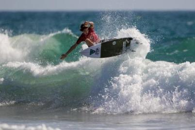 Cole Houshmand of San Clemente took top honors in Boys U16 competition at the Surfing America Prime season eight opener, Aug. 29 and 30 at Camp Pendleton, DMJs. Photo: Jack McDaniel
