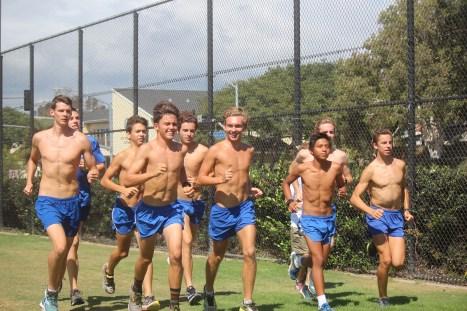 The Dana Hills boys cross country team won the Iolani Invitational in Hawaii on Sept. 19. Photo: Steve Breazeale