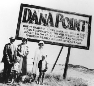 The photo of Gene Burrus as a child with his family on vacation to Dana Point in 1933 is now one of the tile murals decorating the Dana Point pedestrian bridge. Photo: Courtesy of the Dana Point Historical Society