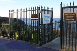 Following the California Coastal Commission's Nov. 3 response to City's Dana Strand Gates CDP proposal to keep gates with hours set from one hour before sunrise to one hour before sunset at the two of five accessways to the beach that run through the Headlands at Strand neighborhood, City Council met in closed session on Wednesday to discuss the matter. Photo: Andrea Swayne