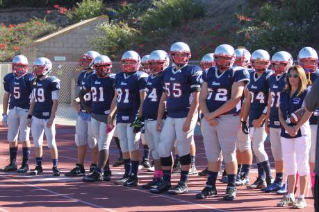 The South Orange County Patriots youth tackle football team finished the 2015 regular season with a 5-3 overall record. Photo: Courtesy