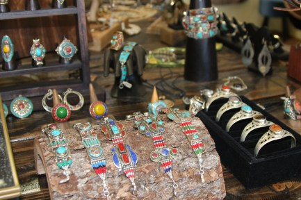 A selection of the unique and colorful jewelry offered at Revital  Fine Jewelry and Imports. Photo: Andrea Swayne