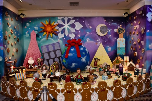 The Gingerbread Extravaganza is 18 feet long and was created by Chefs at the Ritz-Carlton, Laguna Niguel. Photo: Courtesy of the Ritz-Carlton, Laguna Niguel