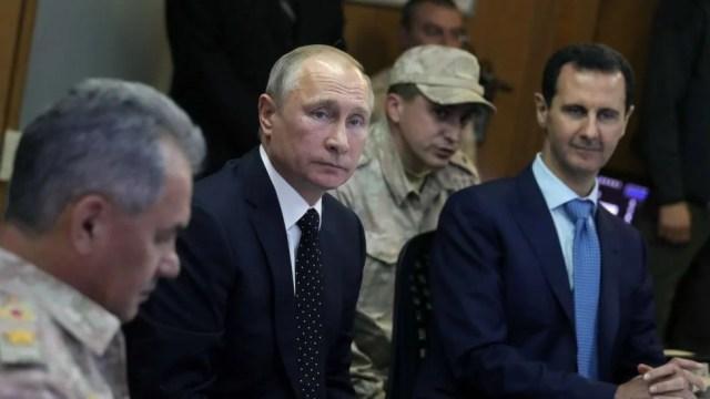 Putin with Bashar al-Assad in 2017